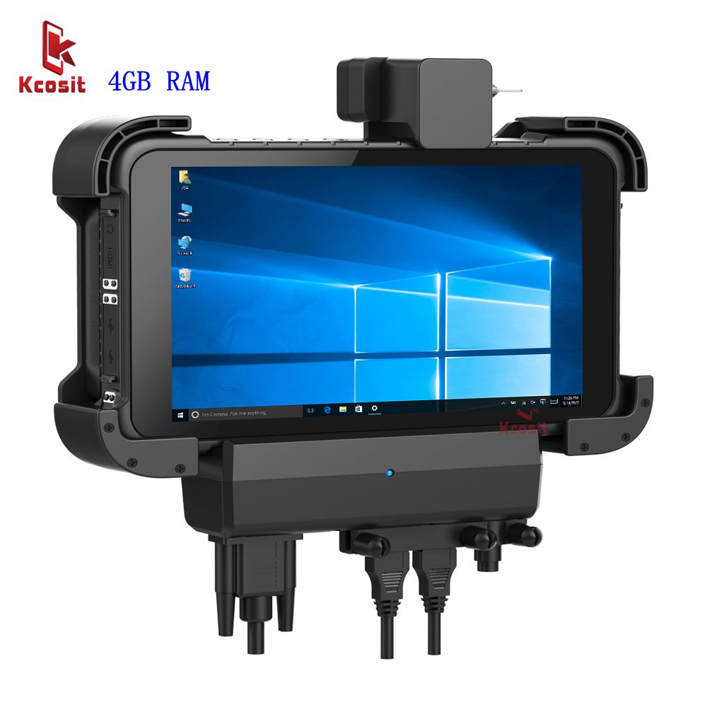 Original K86 Windows 10 Tablet PC Rugged Computer Car Holder RS232 USB IP67 Robust Shockproof 1280x800 HDMI USB GpS navigator