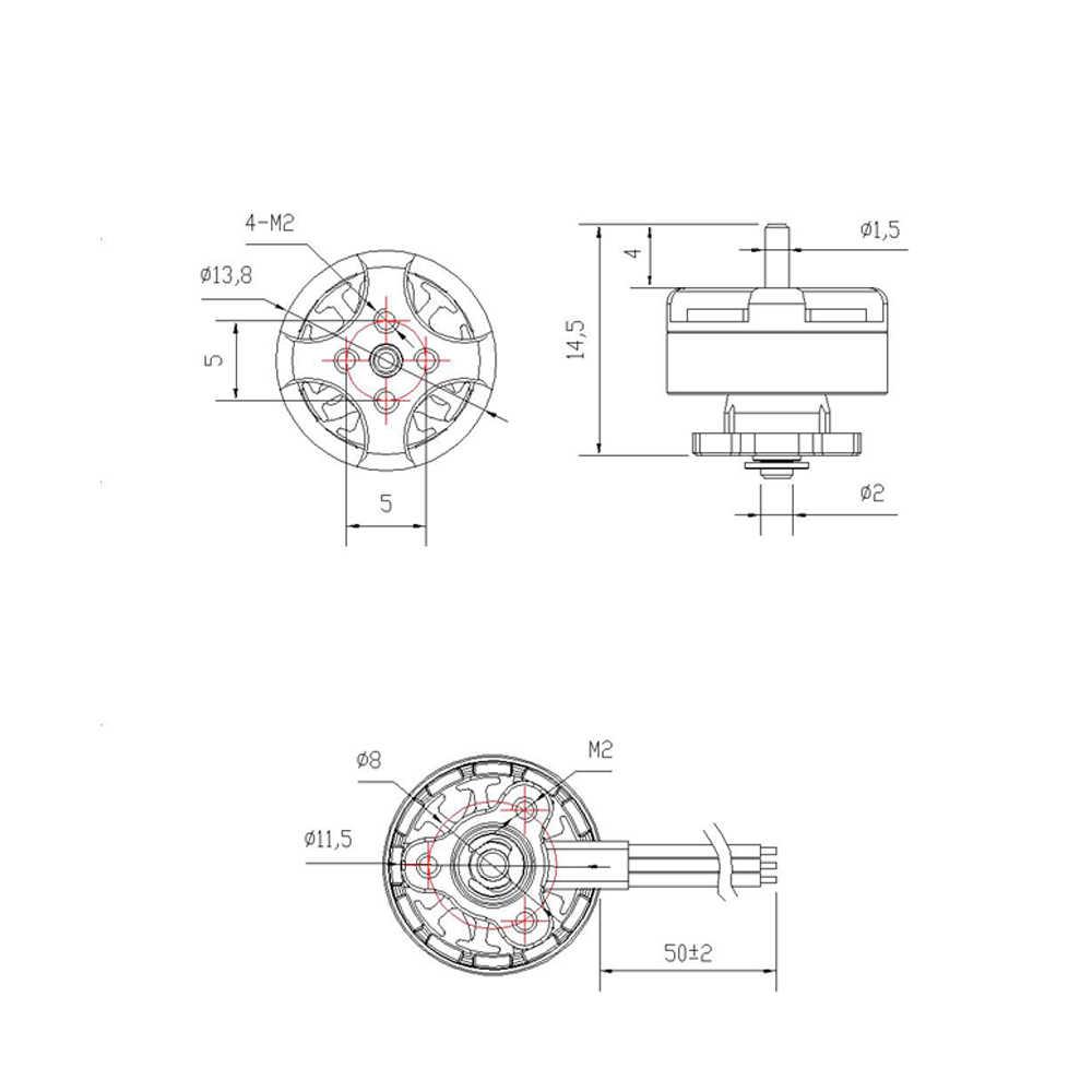 2019 EMAX Tinyhawk フリースタイルブラシレスモーター TH1103 7000KV 1-2S