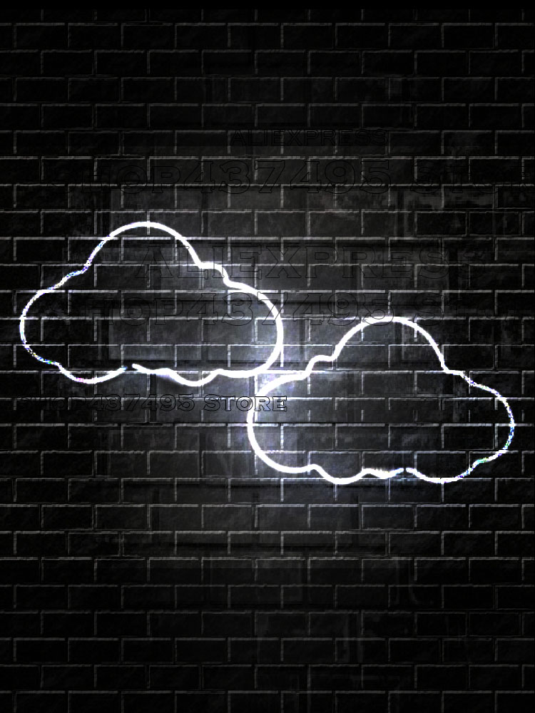 White clouds Home custom neon Light sign for rooms neon light yezzy neon lamp luces coffee Light letrero letrero led image