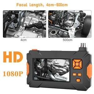 Image 5 - P30 8mm בדיקת אנדוסקופ מצלמה HD1080P 4.3 אינץ מסך IP67 עמיד למים תעשייתי Borescope LED אורות 2600mAh סוללה