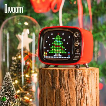 Divoom Tivoo Portable Bluetooth speaker Klok Smart Alarm DIY Pixel Art LED Screen met App kerstcadeau unieke decoratie
