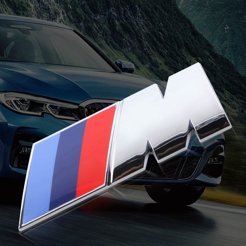 Fashion NEW Car Styling 3D Metal M Emblem Badge Sticker For Bmw X1 X3 X5 X6 Z4 F10 F20 F30 E36 E39 E46 E60 E90 Car Accessories