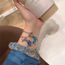 Begirl 2020 Fashion Personality Aesthetic Butterfly OT Buckle Titanium Steel Chain Bracelet For Women Egirl Bff Lovers Jewelry(China)