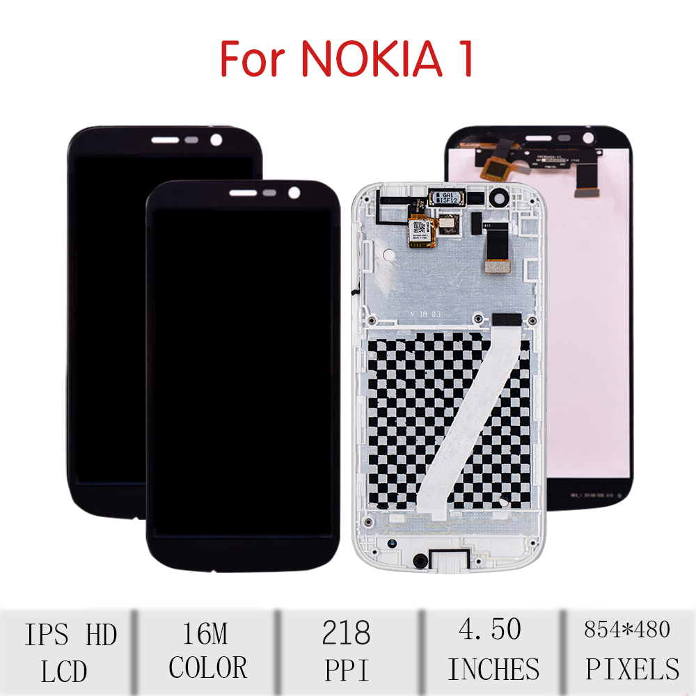 "Image 2 - 4.5""Screen For NOKIA 1 LCD Touch Screen Digitizer Assembly For Nokia 1 Display with Frame Replacement N1 Screen TA 1047 TA 1056Mobile Phone LCD Screens   -"