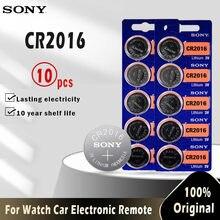 10 шт., батарейки для SONY CR2016, 3 в, CR 2016, LM2016, BR2016, DL2016, литиевая батарея для монет, для часов, электронных игрушек, пультов ДУ
