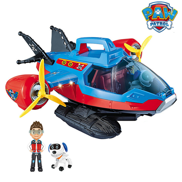 Paw Patrol Dog Toy set Toys Air patrol Aircraft Toy Pirate Ship Robot Dog Music Action Figures Toy for Children Birthday Gift