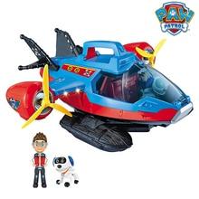 Paw Patrol Hund Spielzeug set Spielzeug Air patrol Aircraft Spielzeug Piraten Schiff Roboter Hund Musik Action figuren Spielzeug für Kinder geburtstag Geschenk