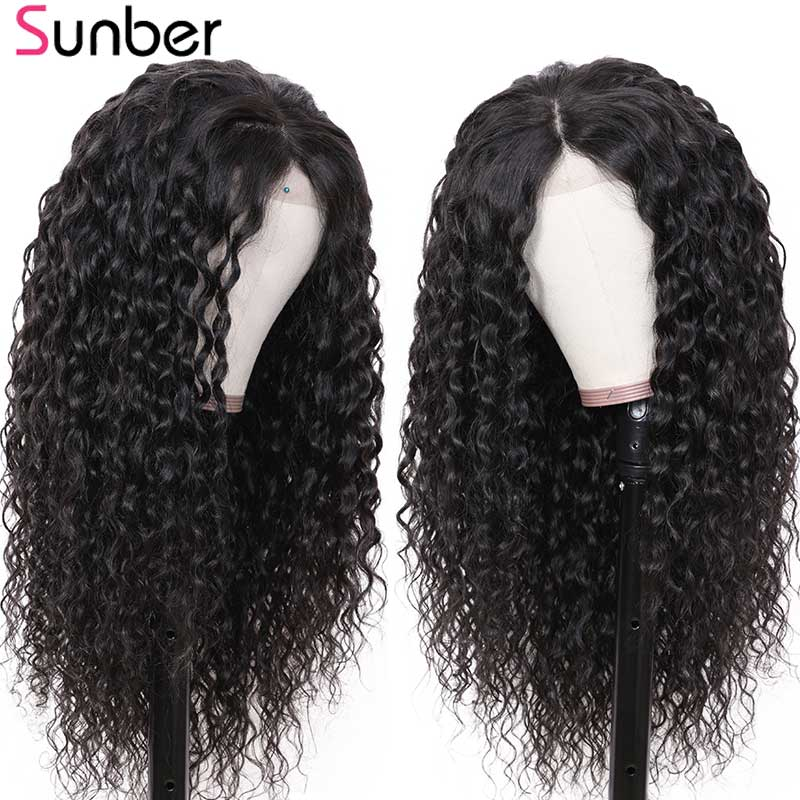Sunber Water Wave Lace Front Human Hair Wig Brazilian M Remy Hair13X4/6 150% Density Lace Front Wigs Pre Plucked For Black Women