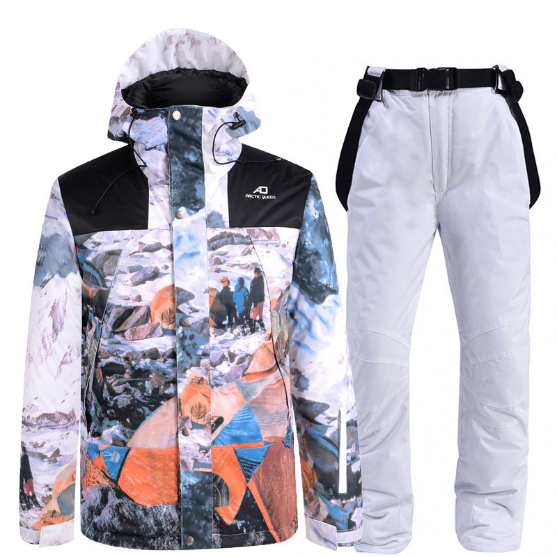 2020 New Ski Suit Women Outdoor Snowboard Jacket Men Warm Windproof Ski Suit Overalls Thick Snow Pants Costume Clothes