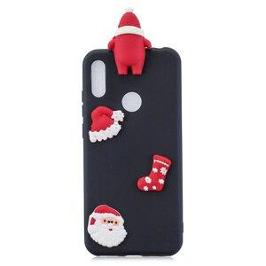 Image 3 - Santa Claus Nette Abdeckung Telefon Fall Für Huawei Y6 Y7 Y5 2018 Fall Für Huawei Y7 Y6 Schutzhülle Y5 y7 Y9 2019 Shell