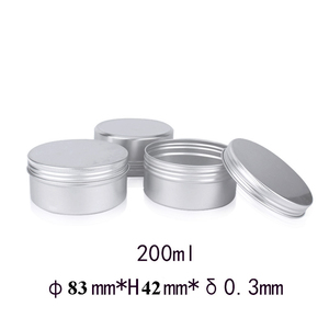 Image 2 - 20pcs 200g 200ml Empty Aluminum Cream Jar Tin Cosmetic Lip Balm Containers Nail Derocation Crafts Pot with Screw Thread