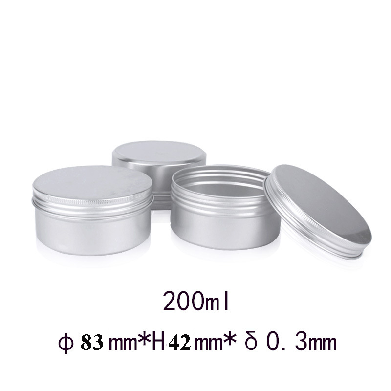 45pcs 200g  Aluminum Tin Jar Metal Containers Lip Balm Container 200ml Empty Wax Candle Jars Cream Pot Box