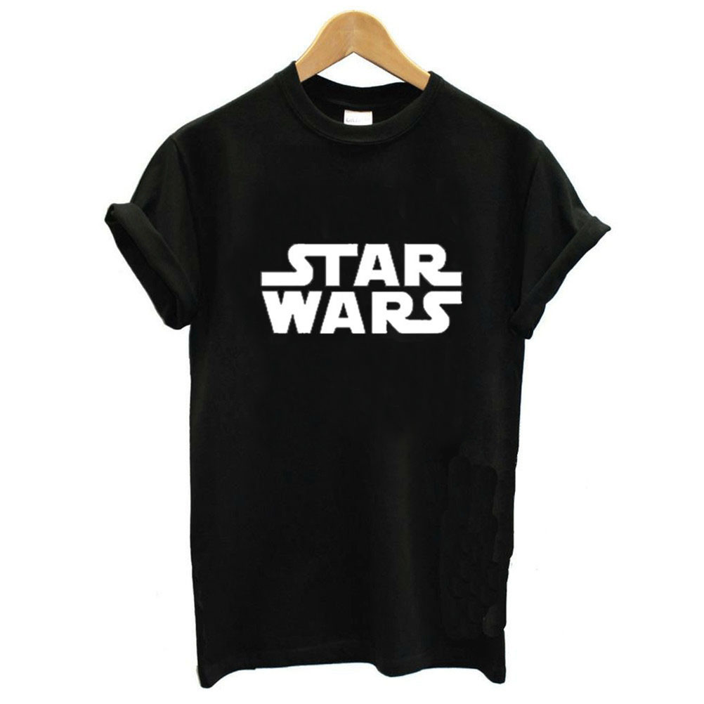 Star Wars Letter Print T Shirt Women Short Sleeve O Neck Loose Tshirt 2020 Summer Fashion Women Tee Shirt Tops