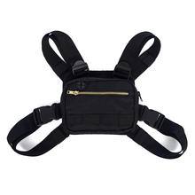 Nylon Unisex Chest Bag Adjustable Straps with Headphone Port for Outdoor Cycling Hiking Camping Bicycle Storage