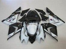 Kit de carenados completos para motocicleta kawasaki Ninja ZX-10R, ZX10R, 2004, 2005, 04, 05, blanco y negro elfo, novedad de alta calidad