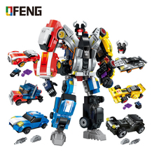 Transformation Series Robot Bricks City 6in1 Deformation Childrens Educational Building Blocks Toys Gifts