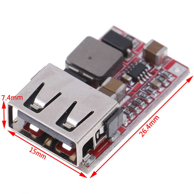 DC 12V/24V Untuk 5V 3A 6-24V Mini USB Output Charger Step Down modul daya DC-DC Adjustable Buck Converter