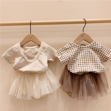 2020 Girls' Clothing T Shirt Tops Tutu Lace Skirt 1 2 3 Y Toddler Kids Outfits Summer Cute Princess Little Girl Clothes Set cute baby girl clothes set 2017 summer cat printed t shirt tops tutu skirt 2pcs princess girls outfits children suit 2 7y