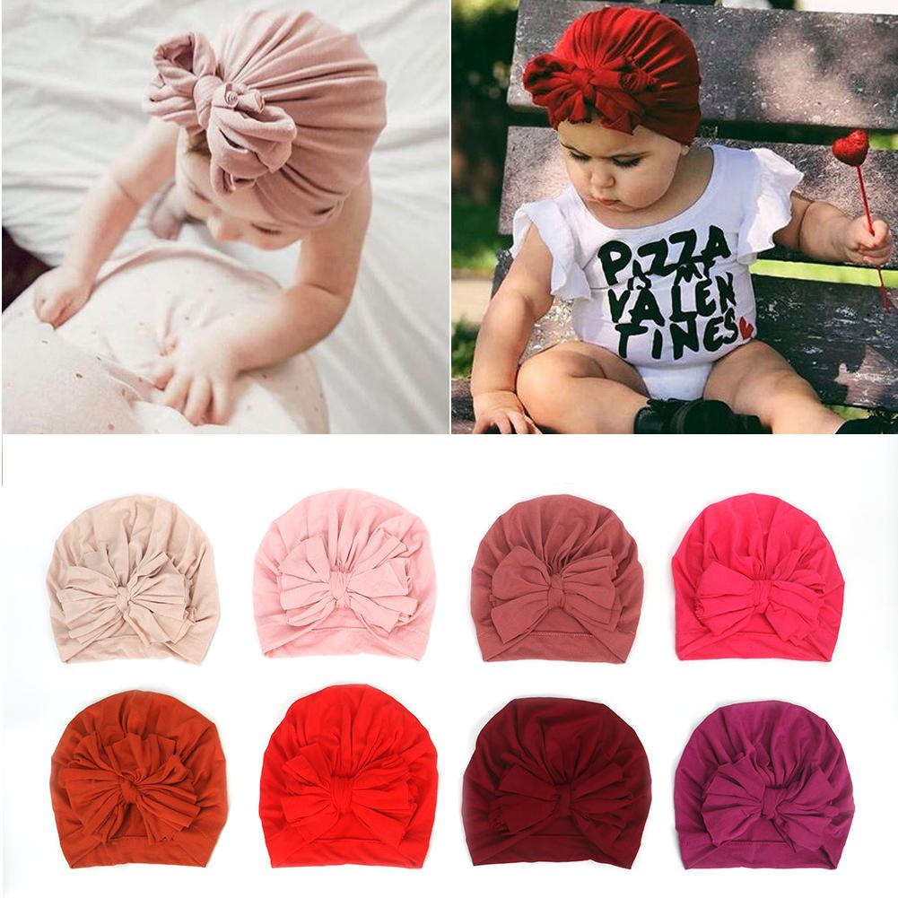 New Baby Hat 16 Color Children 39 s Cotton Caps Baby Caps Bow Caps Newborn Baby Cute Cotton Pullover Hat Baby Hat Cap Hat For Baby in Hats amp Caps from Mother amp Kids