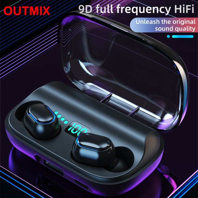 T11 TWS Bluetooth 5.0 Earphone 9D Stereo Wireless Earpiece Headset HI-FI Earbuds HD Call Waterproof 1