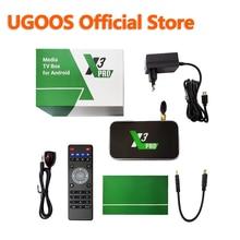 UGOOS – boîtier Smart TV X3 PRO, Amlogic S905X3, Android 9.0, 2 go/4 go DDR4, 16 go/32 go ROM, lecteur multimédia 4K/HD, avec WiFi 2.4/5 ghz et bluetooth