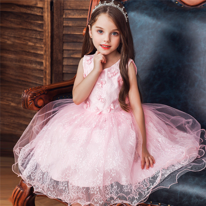 nuevo baratas venta al por mayor estilo distintivo €11.7 27% de DESCUENTO|Vestido de princesa para niña sin mangas con lazo 0  5 años para fiesta de cumpleaños ropa de bebé para eventos de verano para  ...