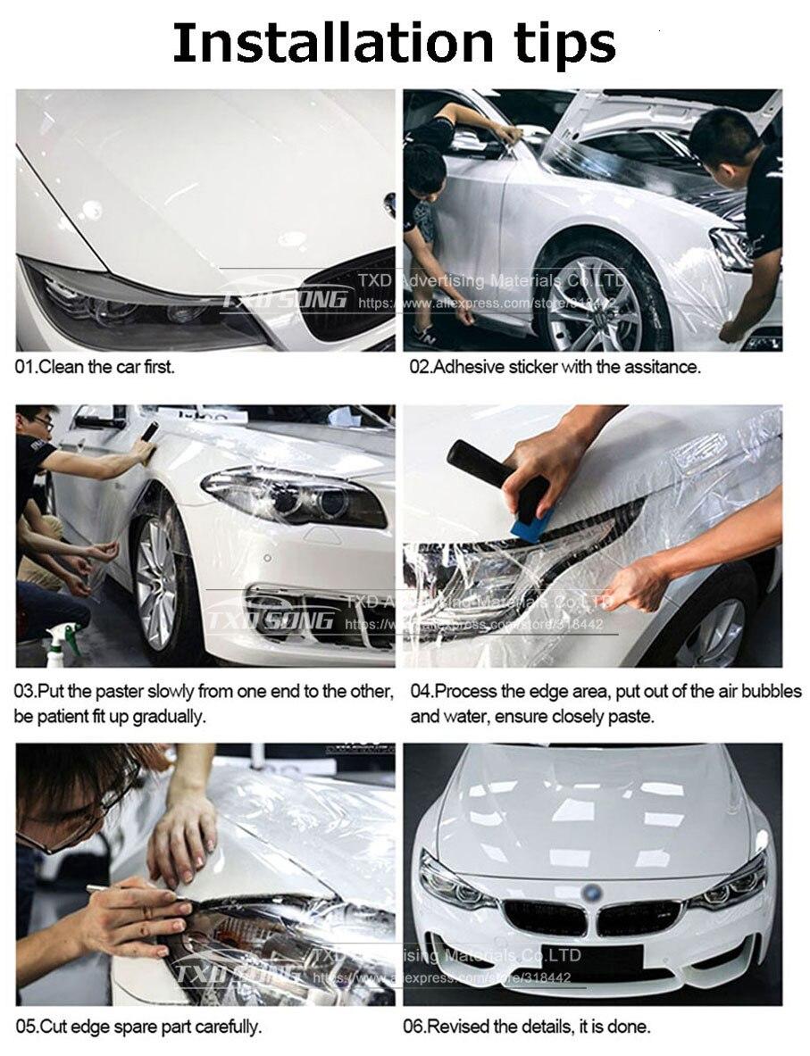 Прозрачный 3 слоя Плёнка для защиты при покраске автомобиля Обёрточная бумага прозрачная защитная пленка Толщина 0,2 мм Размеры 1,52* возможностью погружения на глубину до 30 м/рулон