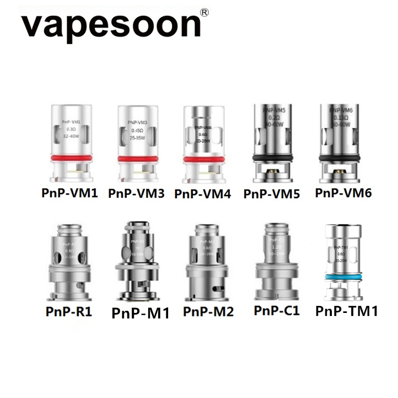 30 Uds PnP-VM1 PnP-VM5 PnP-VM6 PnP-TM1 PnP bobina de la cabeza para VOOPOO VINCI R X Pod arrastrar X S X ARGUS GT aire Vape Mod