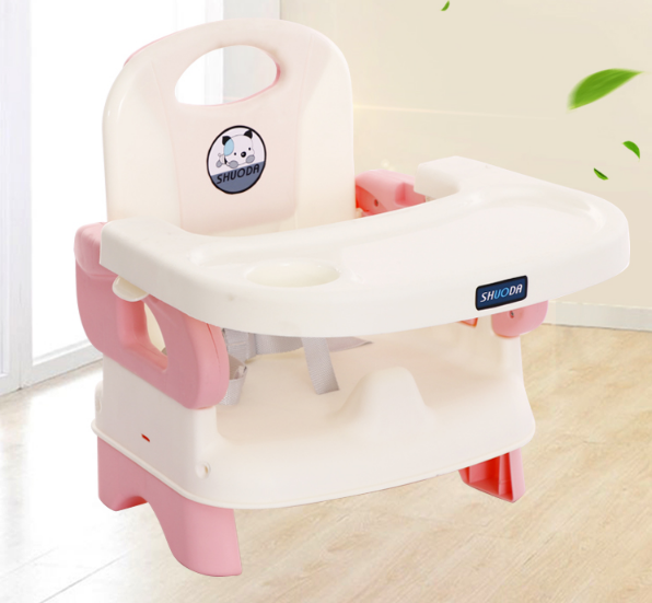 Simple And Adjustable Children's Dining Chair Folding Baby Table Baby Eating Table Child Feeding Chair Backrest Stool Seat