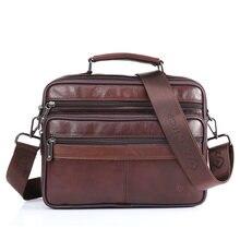 Мужская сумка через плечо кожаная модные сумки мессенджеры с