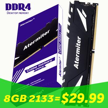 Atermiter 32GB 16GB 8gb 4gb PC pamięć RAM Memoria moduł komputer stacjonarny DDR4 PC4 4G 8g 16g 2400Mhz 2666Mhz DIMM 3200 2133 MHZ tanie i dobre opinie CN (pochodzenie) 4GB 8GB 16GB 32GB Pulpit 15-17-17-35 288pin 1 2VV 2133MHz 2400MHz 2666MHz 3000MHzMHz
