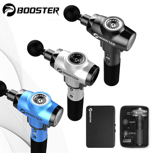 Image 1 - Booster 2500Mah Massage Gun Deep Muscle Back Massager Pistolet For Pain Relaxation Fitness Shaping Slimming Therapy Vibrator Box