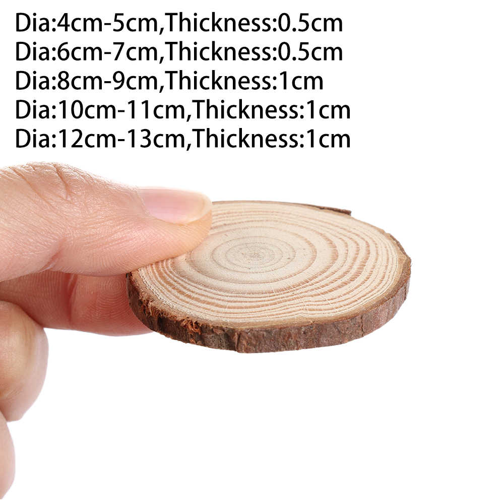 Natural Round Wood Coasters DIY Wooden Home Decoration Cup pa Tea Coffee Mug Drinks Holder Table Mat  Kitchen Accessories