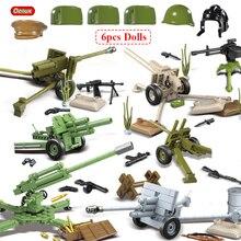 Oenux WW2 la battaglia di mosca scene militari piccolo blocco da costruzione Mini soldato dellesercito russo sovietico figura mattone blocco giocattolo per bambini