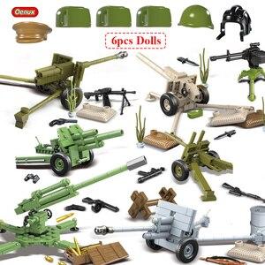 Image 1 - Oenux WW2 la battaglia di mosca scene militari piccolo blocco da costruzione Mini soldato dellesercito russo sovietico figura mattone blocco giocattolo per bambini