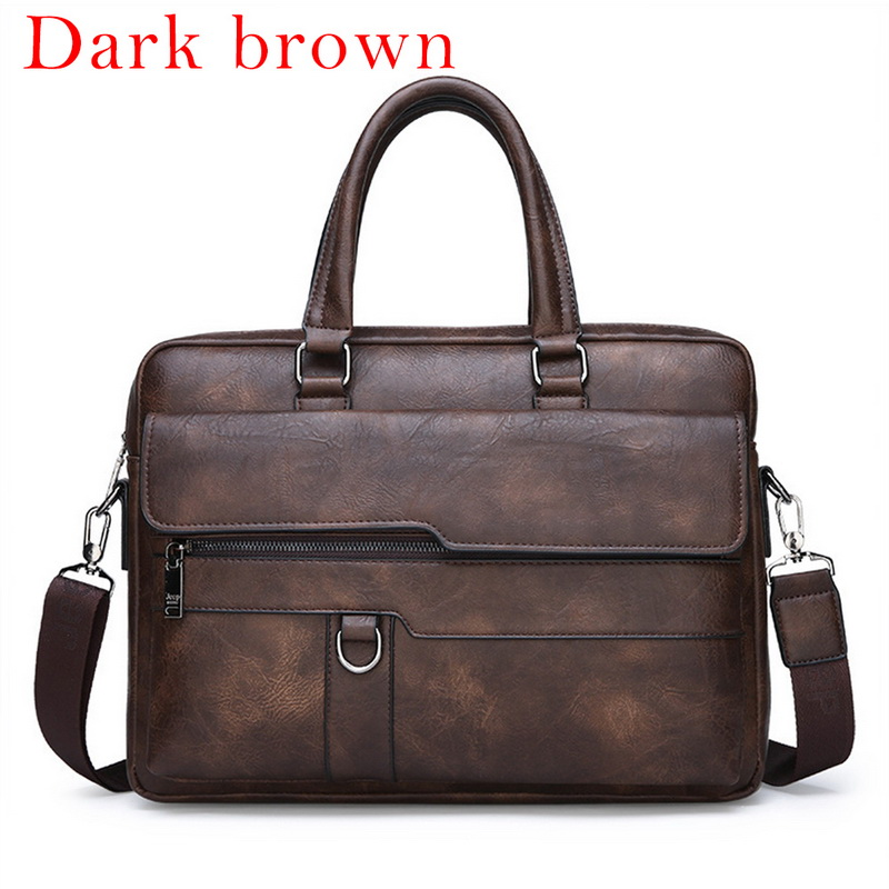 2020 Men Briefcase Bag High Quality Business Famous Brand Leather Shoulder Messenger Bags Office Handbag 13.3 Inch Laptop