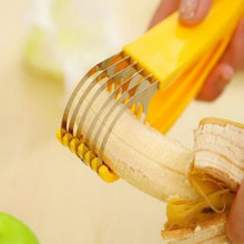 Нож из нержавеющей стали для бананов, колбасный нож для фруктов и овощей, инструменты для приготовления салатов, кухонные аксессуары, гадже...