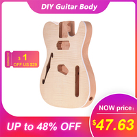 Muslady TL FT03 Unfinished Guitar Body Electric Guitars DIY Parts Mahogany Wood Blank Guitar Barrel for TELE Style Guitar parts