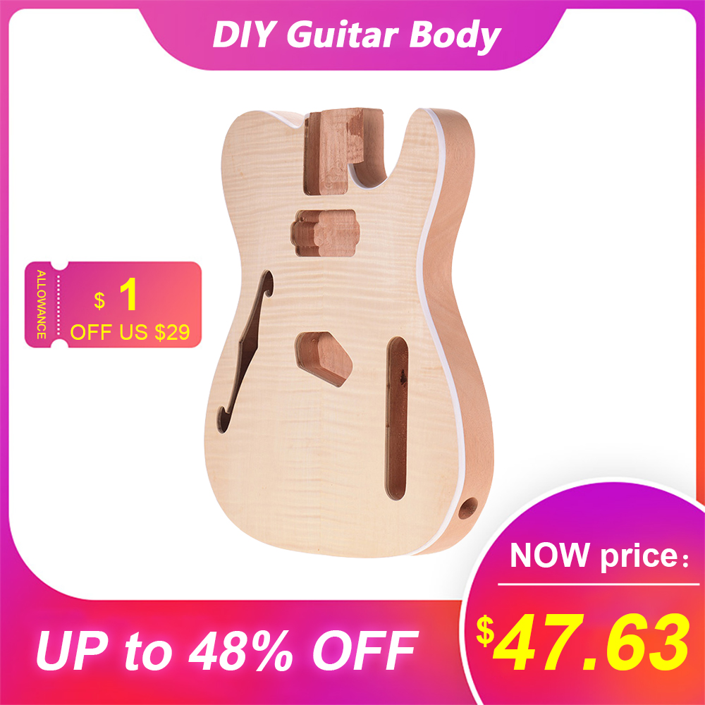 Muslady TL-FT03 non fini guitare corps guitares électriques bricolage pièces acajou bois blanc guitare baril pour TELE Style guitare pièces