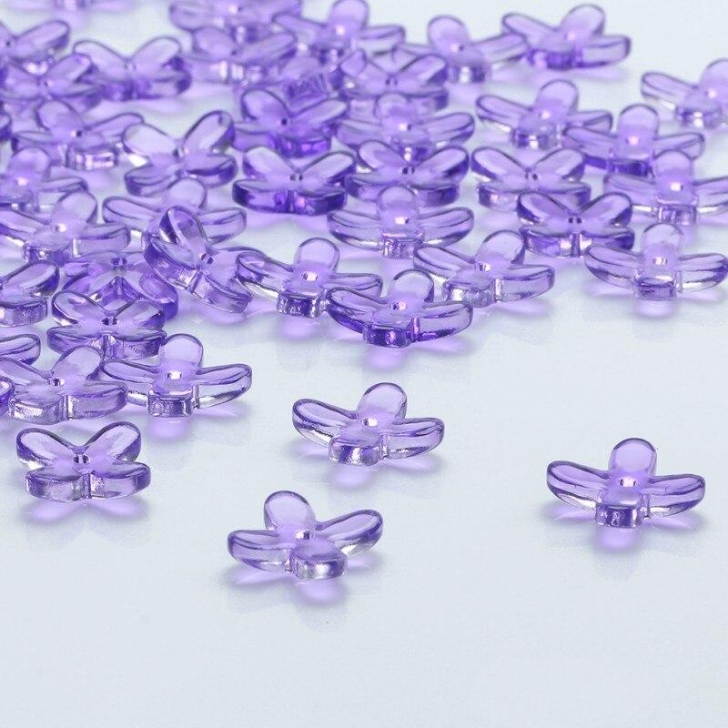 20 unids/lote púrpura de cristal de encanto colgante de forma de flor 12X12MM de cristal suelto estrella cuentas DIY fuentes de diseño de joyería