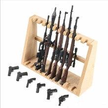 Mini 1/6 montagem de armas escala kit modelo crianças plástico sniper rifle pistola modelagem diorama armas diy pc construção tijolos brinquedos