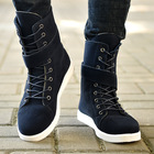 Suede Leather Ankle ...