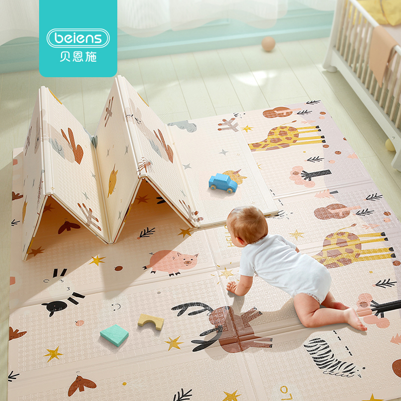 Beiens Baby Play Mat Puzzle Children Mat XPE Baby Room Crawling Pad Folding Carpet Developing Mat Kids Rug Infant