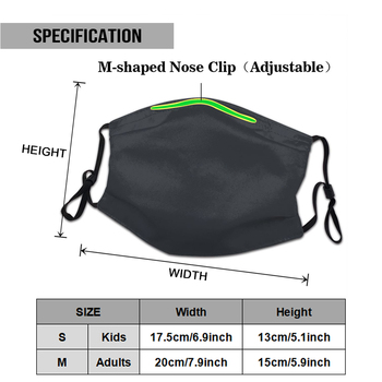 Pelagic Logoblue Washable Reusable Mask with 2Pcs PM2.5 Filters 5 Layers 1