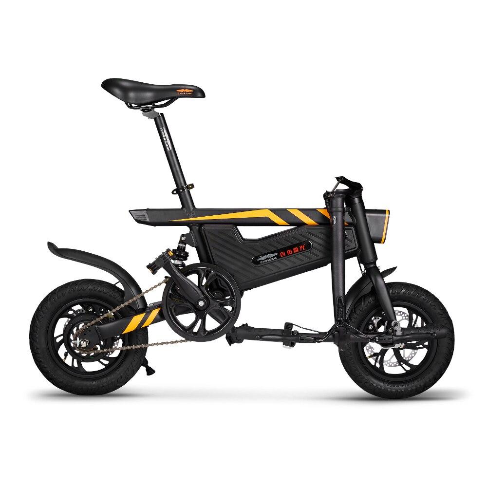 Электровелосипед 12 дюймов складной мощный электрический велосипед 250 Вт Мотор тормоза велосипед Складная ножная педаль электрический велосипед Открытый Велоспорт - 5