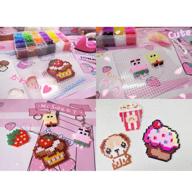 JINLETONG puzzle 1000 pieces Hama Beads 5mm Midi perler Fuse beads Hama Bead 5mm Mixed Iron Kids jigsaw puzzle Educational Toys 4