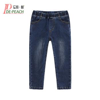 DE PEACH jesienna odzież dla dzieci chłopięce spodnie jeansowe dziecięce casualowe spodnie jeansowe zimowe chłopięce dziewczęce elastyczny bawełniany kowbojskie spodnie tanie i dobre opinie DE·PEACH Na co dzień LOOSE light Elastyczny pas Unisex Dobrze pasuje do rozmiaru wybierz swój normalny rozmiar Baby Boys Girls Jeans Pants Trousers