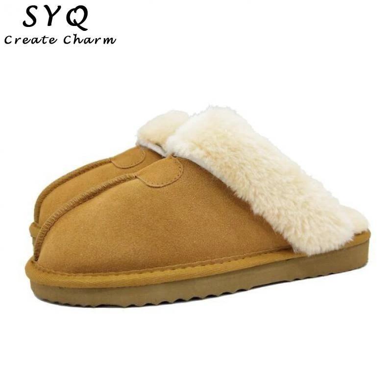 LEATHER Slippers Women/'s Shoes Real SHEEPSKIN /& CALFSKIN