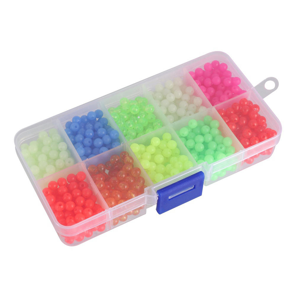 1000PCS 5MM Fishing Lures Acrylic Beads Fluorescent Bait Bead Plastic Luminous Beads Bean Fishing Accessories|Fishing Lures| |  - title=