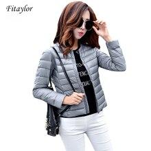 Fitaylor New Autumn Women Ultra Light White Duck Down Jacket Plus Size S 3xl Candy Color Slim Short Design Warm Down Coats